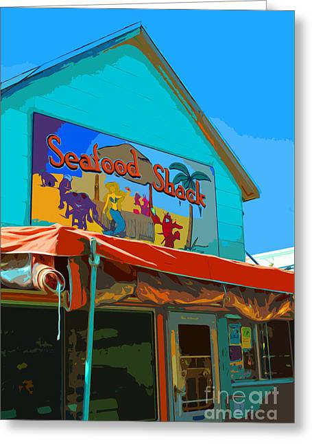 Gay Bar Paintings Greeting Cards - Seafood Shack Greeting Card by Jost Houk