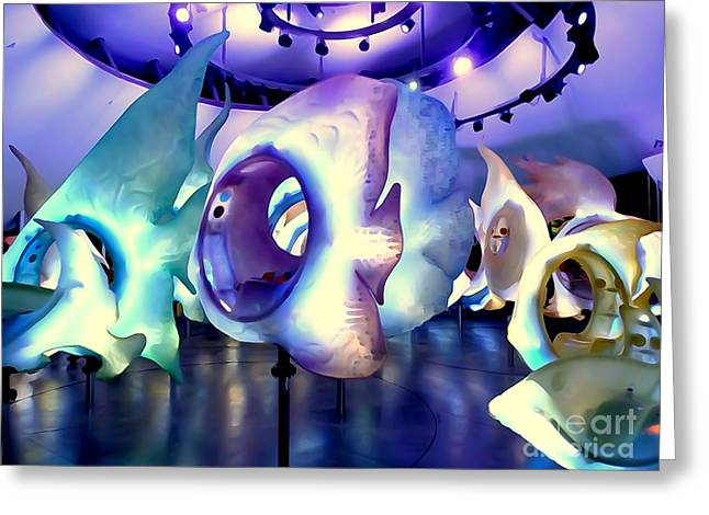 Amusements Greeting Cards - Seaglass Carousel #2 Greeting Card by Ed Weidman