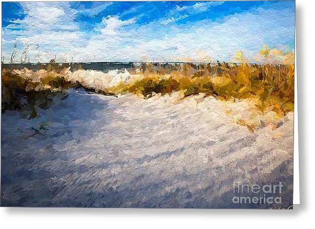 Panama City Beach Digital Greeting Cards - Seagrass breeze Greeting Card by Anthony Fishburne