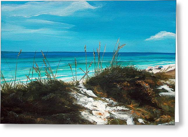 Emerald Coast Greeting Cards - Seagrove Beach Florida Greeting Card by Racquel Morgan