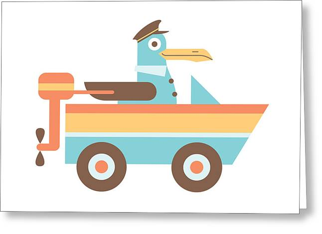 Seagull Sailor Greeting Card by Mitch Frey