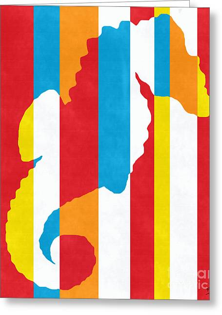 Abstract Expressionist Greeting Cards - Seahorse 1505 Greeting Card by Flo Ryan