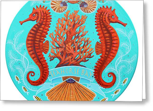 Seahorse Bay Greeting Card by Danielle Perry