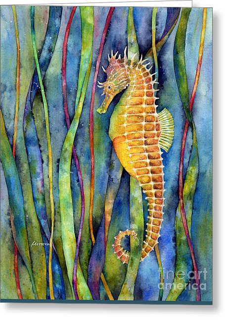 Seahorse Greeting Card by Hailey E Herrera