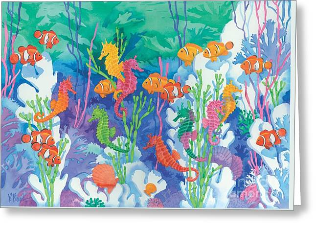 Sea Life Greeting Cards - Seahorse Lagoon Greeting Card by Paul Brent