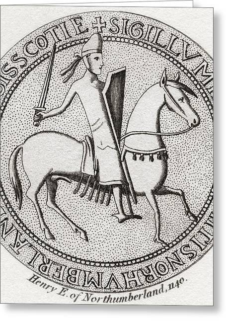 Heir Greeting Cards - Seal Of Henry Of Scotland, 1114 Greeting Card by Ken Welsh
