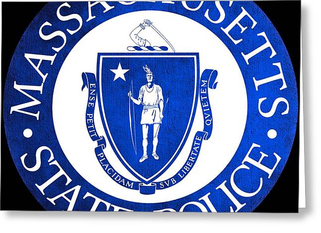 Seal Of The Massachusetts State Police Greeting Card by Tom Lemmons
