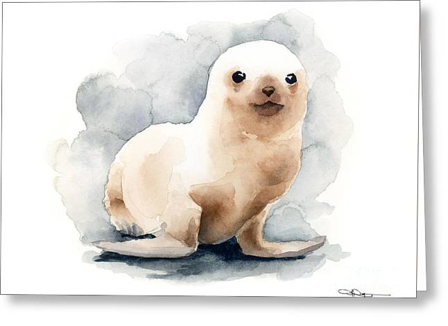 Ocean Mammals Greeting Cards - Seal Pup Greeting Card by David Rogers