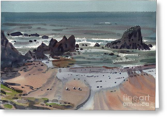Shore Bird Greeting Cards - Seal Rock Oregon Greeting Card by Donald Maier