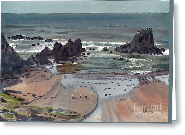 Seal Rock Oregon Greeting Card by Donald Maier