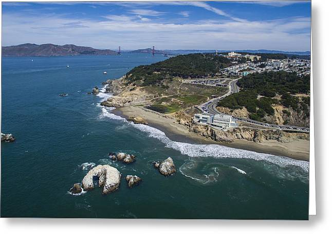 Nature Greeting Cards - Seal Rocks at the Cliff House Greeting Card by David Levy