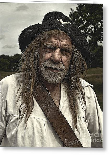British Portraits Greeting Cards - Sealed Knot Actor 2 Greeting Card by Linsey Williams