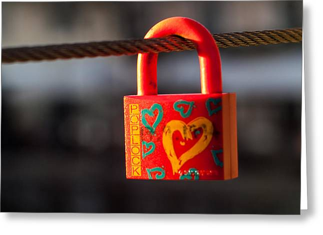 Sealed Love Greeting Card by Davorin Mance