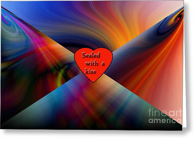Purchase Greeting Cards - Sealed With A Kiss Greeting Card by Geraldine DeBoer