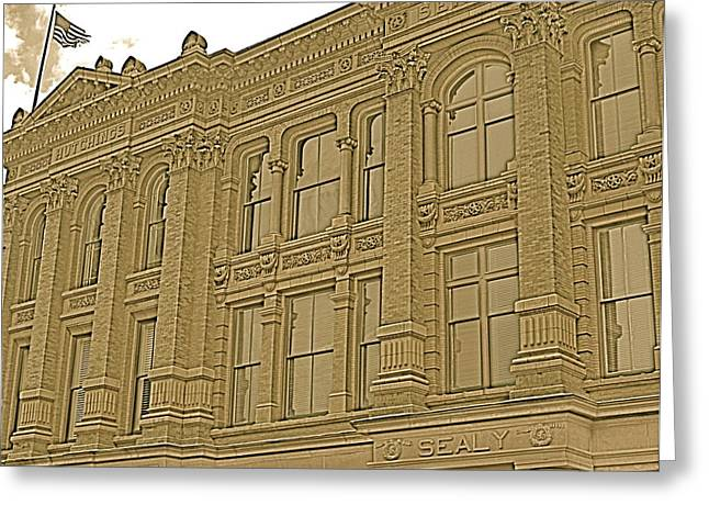 Galveston Greeting Cards - Sealy Building Greeting Card by Alison Mae Photography