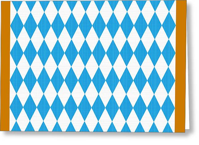 Seamless Oktoberfest Pattern With Fabric Texture Greeting Card by Natalia Ratselmeister