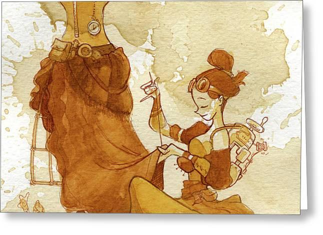 seamstress Greeting Card by Brian Kesinger