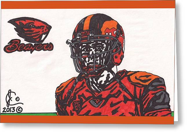 Sean Mannion Greeting Card by Jeremiah Colley