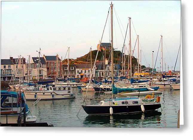 Yatch Greeting Cards - Seaport of St. Ives England Greeting Card by Mindy Newman