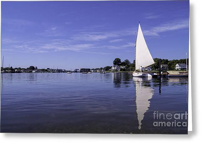 Sailboat Photos Greeting Cards - Seaport Scenery 2 Greeting Card by Joe Geraci