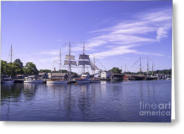 Sailboat Images Greeting Cards - Seaport Scenery 3 Greeting Card by Joe Geraci
