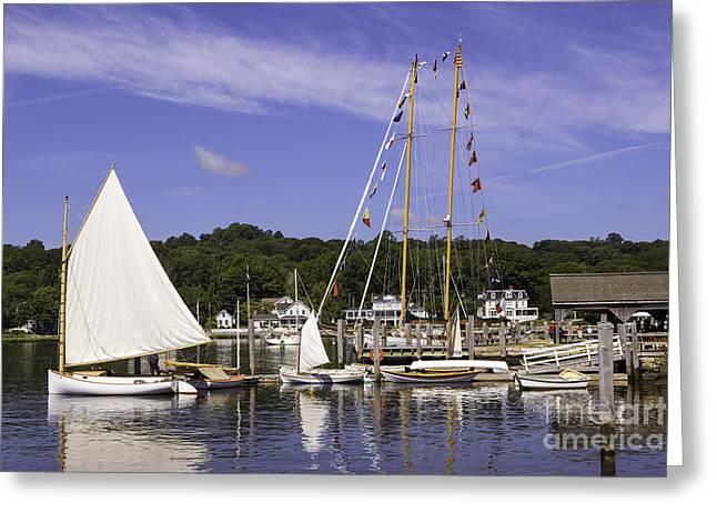 Sailboat Photos Greeting Cards - Seaport Scenery Greeting Card by Joe Geraci
