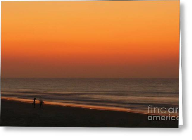 Sunrise On Beach Greeting Cards - Searching Greeting Card by Jeff Breiman