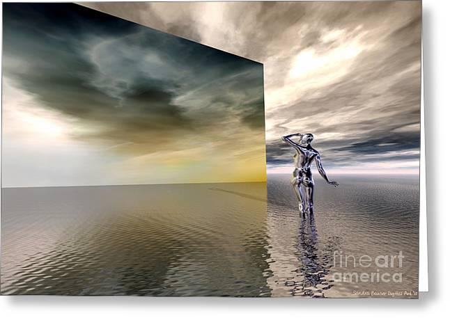 Searching Greeting Card by Sandra Bauser Digital Art