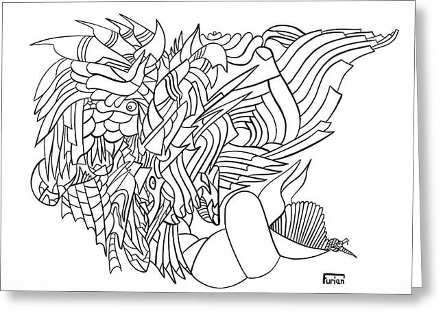 Seashell Drawings Greeting Cards - Searocks Greeting Card by Peter Hermes Furian