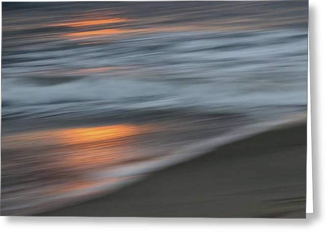Seascape Abstract 3 Greeting Card by Karen Jensen