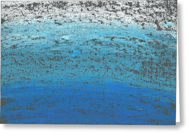 Abstract Seascape Greeting Cards - Seascape Abstract Greeting Card by Edward Fielding