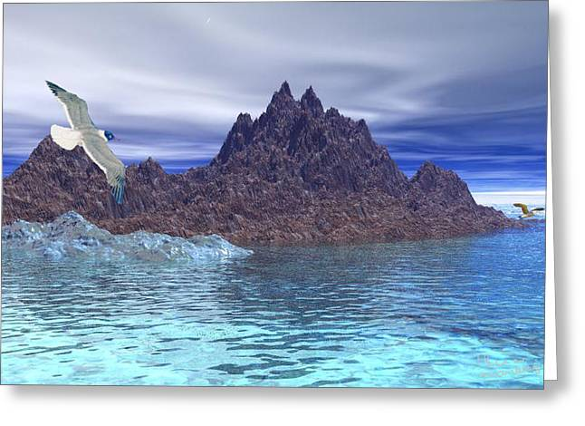 Gina Lee Manley Greeting Cards - Seascape Greeting Card by Gina Lee Manley