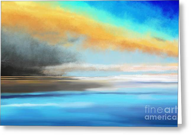 Seascape Painting Greeting Card by Jan Brons
