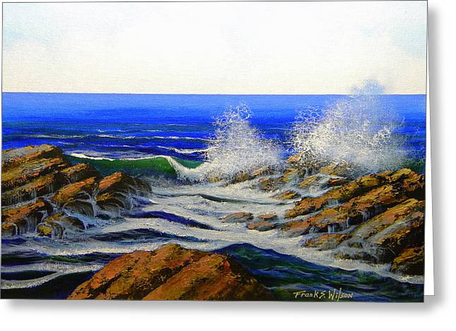 Seascape Study 4 Greeting Card by Frank Wilson
