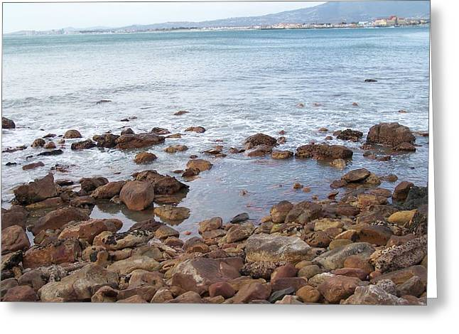 Cape Town Greeting Cards - Seascape Greeting Card by Vijay Sharon Govender