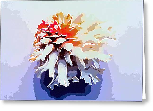 Marine Mollusc Paintings Greeting Cards - Seashell 7 Greeting Card by Lanjee Chee