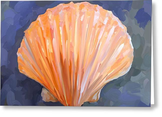 Seashell Art Greeting Cards - SeaShell I Greeting Card by Jai Johnson