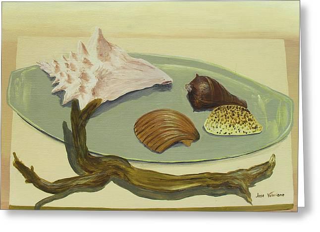 Seashells Greeting Card by Jose Valeriano