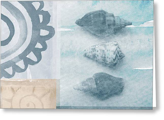Seashells  Greeting Card by Linda Woods