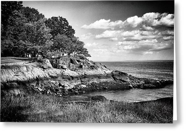Long Island Sound Greeting Cards - Seaside Cliffs Greeting Card by Jessica Jenney