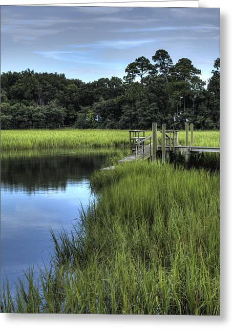 Hdr Landscape Greeting Cards - Seaside Creek Fort Lamar Battle of Secessionville Greeting Card by Dustin K Ryan