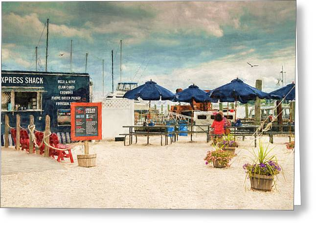 Express Greeting Cards - Seaside Dining Greeting Card by Robin-lee Vieira