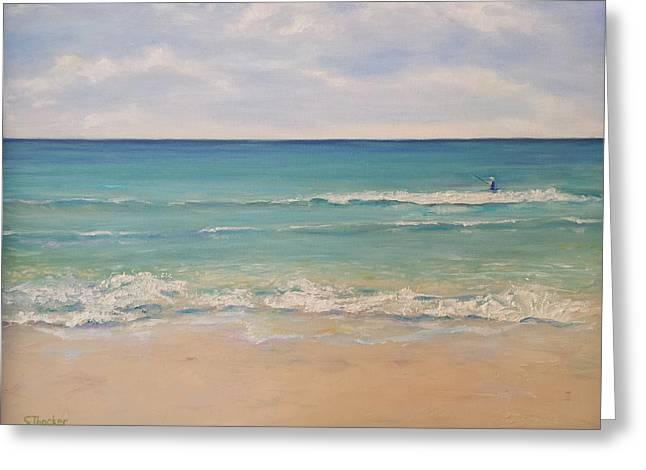Seaside Florida Greeting Card by Susan Thacker