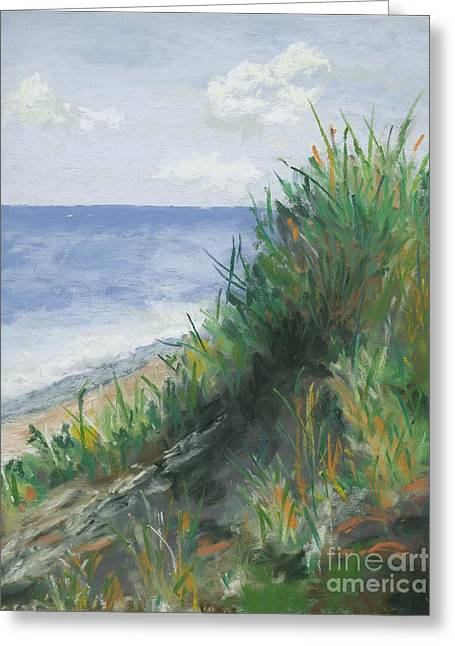 Ocean Shore Pastels Greeting Cards - Seaside Greeting Card by Ginny Neece