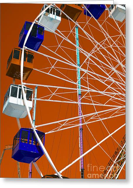 Seaside Heights Photographs Greeting Cards - Seaside Heights Ferris Wheel Pop Art Greeting Card by John Rizzuto