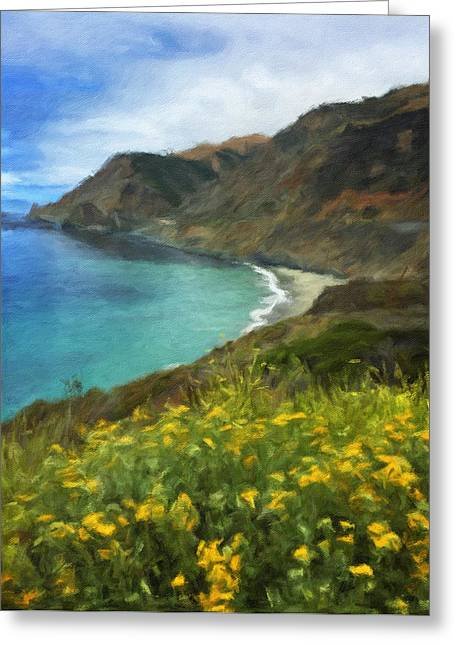 Big Sur Beach Greeting Cards - Seaside  Greeting Card by Jonathan Nguyen