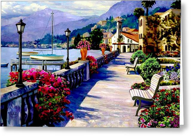 Seaside Pathway Greeting Card by Ron Chambers
