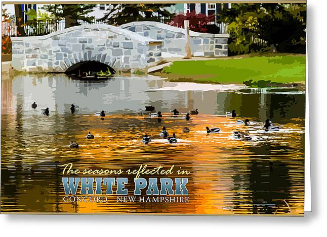 Concord Greeting Cards - Season Reflections White Park Greeting Card by Aaron Baker