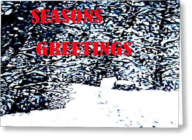 Winter Prints Mixed Media Greeting Cards - Seasons Greetings 24 Greeting Card by Patrick J Murphy