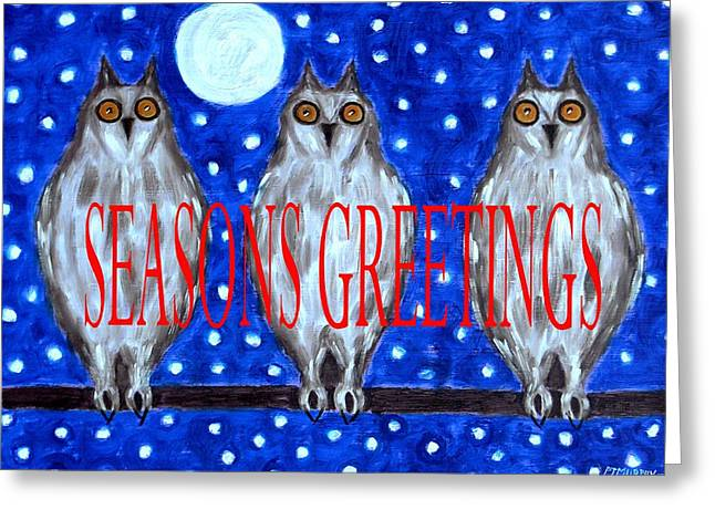 T Shirts Mixed Media Greeting Cards - Seasons Greetings 79 Greeting Card by Patrick J Murphy